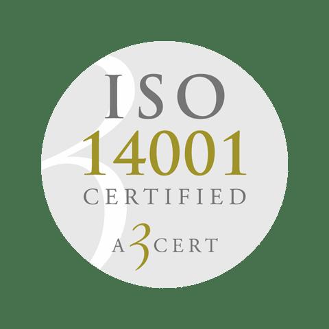 Retendo ISO 14001 Certified A 3 cert