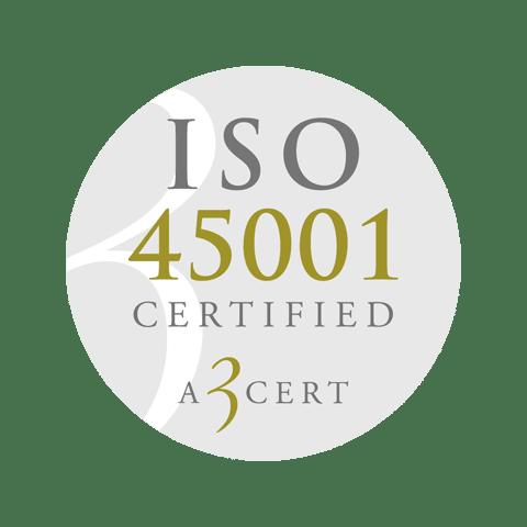 Retendo ISO 45001 Certified A 3 cert