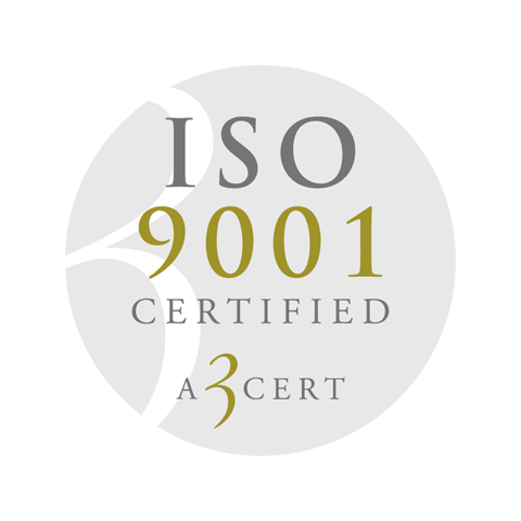 Retendo ISO 9001 Certified A 3 cert